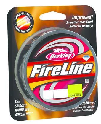 Picture of Berkley BFLFS4-GG FireLine Fused Original Braided Line 4lb/1 125yd Filler Spool Flame Green