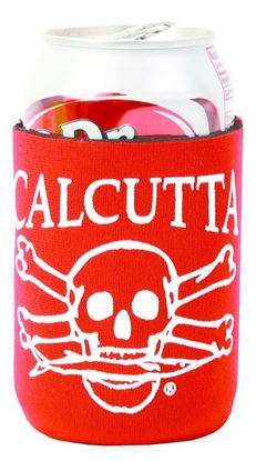 Picture of Calcutta CPCRD Pocket Can Cooler Red w/Wht Logo