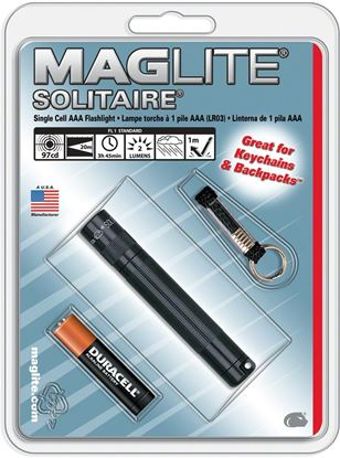 Picture of Maglite K3A016 Solitaire Black AAA Flashlight