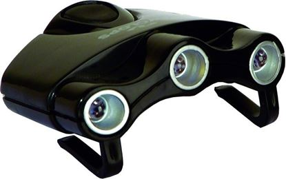 Picture of Cyclops CYC-HCI-W Orion Hat Clip Light w/3 Clear LED Lights, 17.5 Lumen, 2-CR2032 Batteries Included