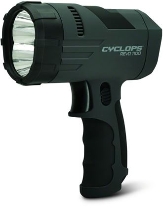 Picture of Cyclops CYC-X1100H Revo Rechargeable Handheld Spotlight, 1100 Lumen, 2-Luxeon LED's, Black