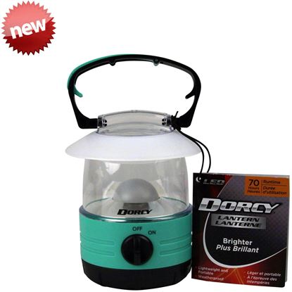 Picture of Dorcy 41-1010 LED Mini Accent Lantern, 360 Degrees of Light, Handle Hang Hook, 70 Hours of Run Time