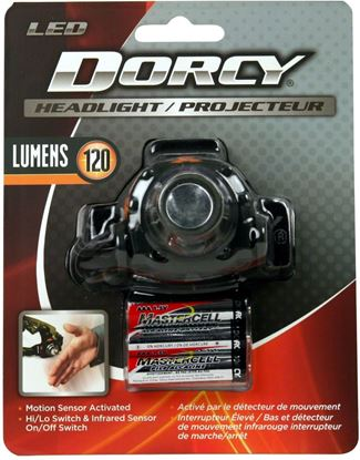 Picture of Dorcy 41-2104 120 Lumen Motion Sensor Headlight, Motion Sensor Mode, Lightweight and Compact