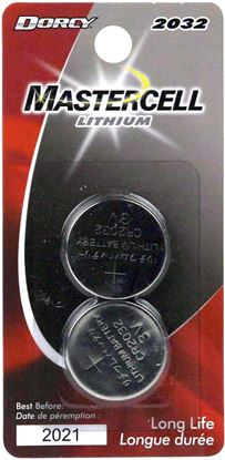 Picture of Dorcy 41-4102 Mastercell 2 Pack Lithium Coin Batteries 2032