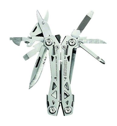 Picture of Gerber 31-003345 Suspension NXT multi tool, spring loaded, 15 functions, locking tools, thin, light, compact design, pocket clip, clam