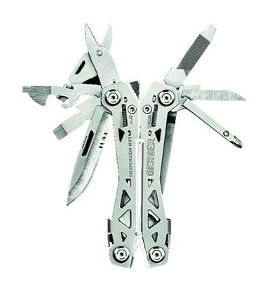 Picture of Gerber 30-001364 Suspension NXT multi tool, spring loaded, 15 functions, locking tools, thin, light, compact design, pocket clip, box