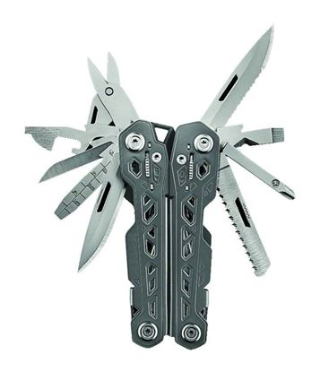 Picture of Gerber 31-003304 Truss multi tool, spring loaded, 17 functions, locking tools, nylon sheath, clam