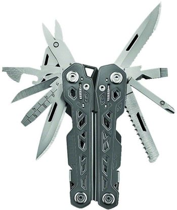 Picture of Gerber 30-001343 Truss multi tool, spring loaded, 17 functions, locking tools, nylon sheath, box
