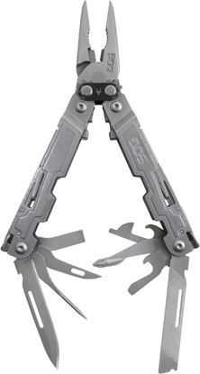 Picture of SOG PA1001-CP PowerAccess Multi-Tool, Compound Leverage, 18 Tools, Stone Wash Finish, Clam