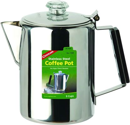 Picture of Coghlans 1340 Stainless Steel Coffee Pot 9Cup