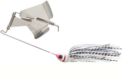 Picture of Booyah BYB38605 Buzz Bait, 3/8 oz, Snow White Shad