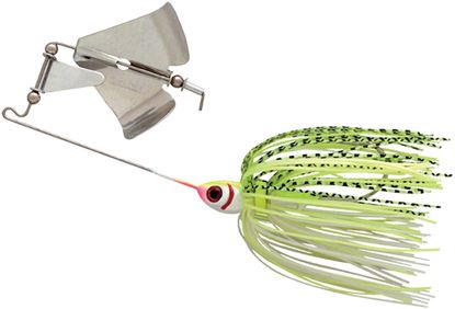 Picture of Booyah BYB38606 Buzz Bait, 3/8 oz, White/Chartreuse Shad