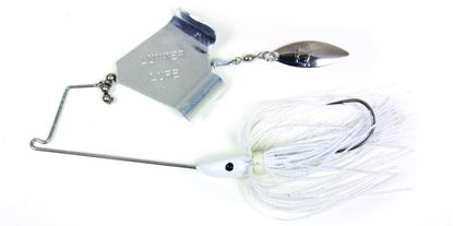 Picture of Lunker Lure 37121742 Jump'N Jak Buzz Bait, 1/2 oz, White Skirt/Silver Blade