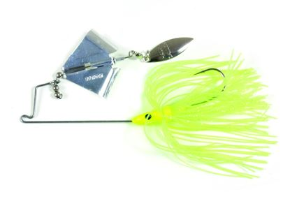 Picture of Lunker Lure 37140662 Jump'N Jak Buzz Bait, 1/4 oz, Chartreuse Skirt/Silver Blade