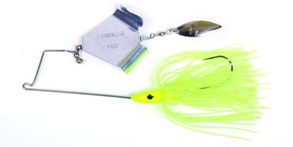 Picture of Lunker Lure 37120662 Jump'N Jak Buzz Bait, 1/2 oz, Chartreuse Skirt/Silver Blade