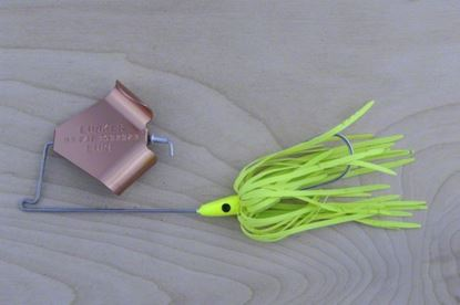 Picture of Lunker Lure 4212-0668 Original Buzz Bait, 1/2 oz, Chartreuse Skirt/Copper Blade