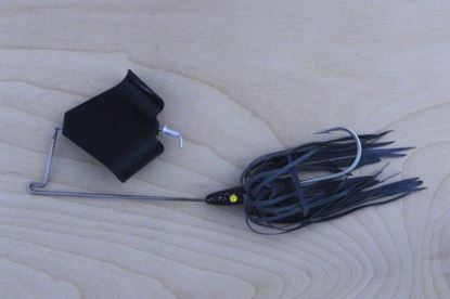 Picture of Lunker Lure 4212-0103 Original Buzz Bait, 1/2 oz, Black Skirt/Black Blade