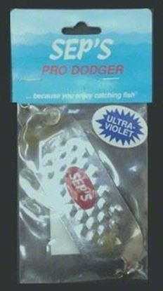 """Picture of Sep's 30100 4/0 Pro Dodger, 1 1/4"""" x 4"""", UV Silver"""