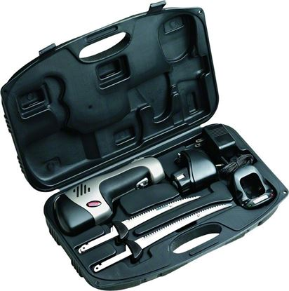 """Picture of Rapala PGEFR Deluxe Cordless Fillet Knife Set Rechargeable, 6"""" & 7-1/2"""" Blades"""