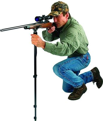 """Picture of Allen 2163 Deluxe Shooter's and Camera Staff, Adjusts 21.5"""" to 61"""", Matte Black Aluminum"""