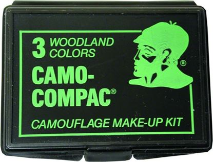 Picture of Hunters Specialties 00260 Camo-Compac 3-Color Woodland Makeup Kit GREEN,BLACK, & BROWN