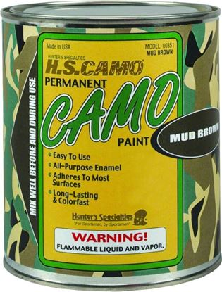 Picture of Hunters Specialties 00361 Camo Paint Quart Mud Brown