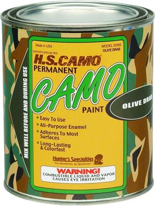 Picture of Hunters Specialties 00362 Camo Paint Quart Olive Drab