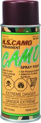 Picture of Hunters Specialties 00322 Permanent Camo Spray Paint 12oz Mud Brown