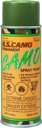 Picture of Hunters Specialties 00324 Permanent Camo Spray Paint 12oz Olive Drab