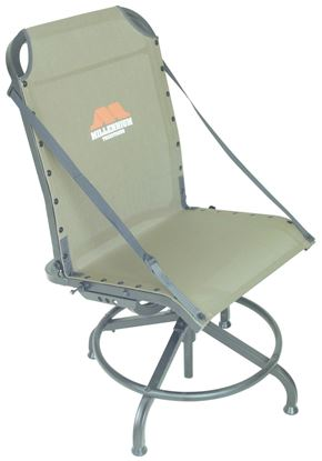 """Picture of Millennium G-200 Shooting Chair for Tower Stands, Swiveling, Aluminum w/Steel Base, 17"""" - 24"""" Height, Olive Drab"""