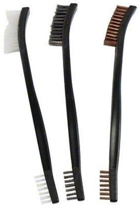 Picture of Birchwood Casey 41104 Utility Brushes - Bronze, Nylon & Stainless Brushes 3 pack (replaces 41103)