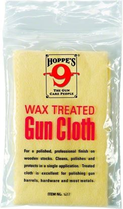 """Picture of Hoppes 1217 No. 9 Gun Cloth, Wax Treated, 12X17"""", Poly Bag (284950)"""