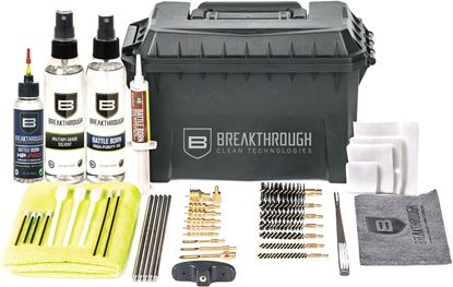 Picture of Breakthrough BT-ACC-U-HP Ammo Can - Stainless Steel Rod Cleaning Kit (.22 cal thru 12 gauge) with HP Pro L&P