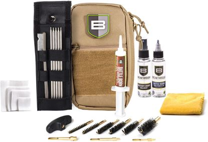 Picture of Breakthrough BT-LOC-U-DST Nylon Pouch with Molle - Stainless Steel Rod Cleaning Kit (.22 cal thru 12 gauge) - DESERT