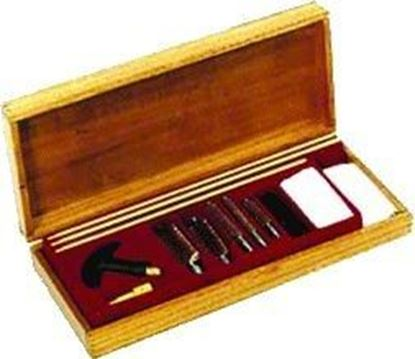 Picture of GunMaster UGC66W Universal Cleaning Kit 17 pc Wood Case