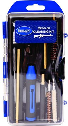 Picture of GunMaster GM223AR 17Pc .223/5.56 AR Rifle Cleaning Kit w/Pull Through Rod Punch Pick & 6Pc Driver Set (112798)