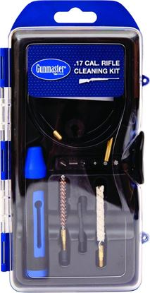 Picture of GunMaster GM17LR 12Pc .17Cal Rifle Cleaning Kit w/Pull Through Rod & 6Pc Driver Bit Set
