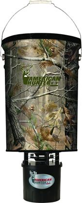 Picture of American Hunter R-50PROAP 50lb Hanging Feeder w/ Kit Realtree AP Camo