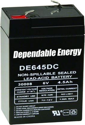 Picture of American Hunter DE-30008 DE645DC 6v 4.5 Amp Hr Rechargeable Battery, Tab Top