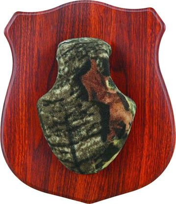 Picture of Allen 569 Heirloom Rack Mounting Plaque, Wood Grain Look, MOBU Infinity and Black Skull Covers