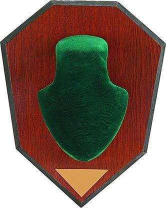 Picture of Allen 562 Antler Mounting Kit, Wood Grain Plaque, Green Skull Cover