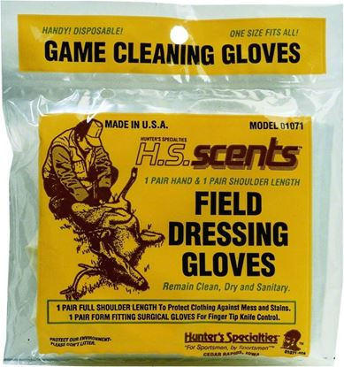 Picture of Hunters Specialties 01071 Field Dressing & Gutting Gloves 2-Pair