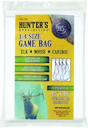 """Picture of Hunters Specialties 01238 Quarter Size Game Bags, 40"""" x 48"""", Elk/Moose/Caribou, 4 pack"""