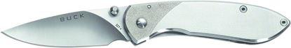 "Picture of Buck 0327SSS Nobleman Folding Lockback Pocket Knife, 2 5/8"" Drop Point Satin Finish 440A Steel Blade, Pocket Clip"