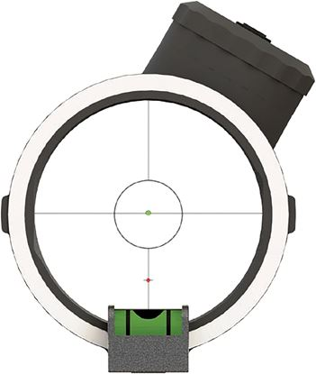 Picture of Apex Gear AG2310B Covert Bow SIght, Pwr-Dot Apertur 1Dot