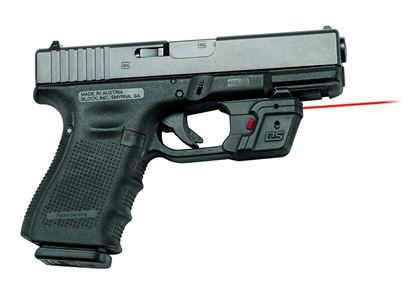 Picture of Crimson Trace DS-121 Defender Series Accu-Guard Laser Sight, Black/Red, Switch Activation, Red Laser, Fits Glock Pistols