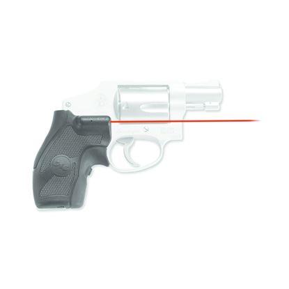 Picture of Crimson Trace LG-405 Lasergrips Laser Sight, Black, Pressure Sensor Activation, Red Laser, Fits S&W J-Frame Revolvers