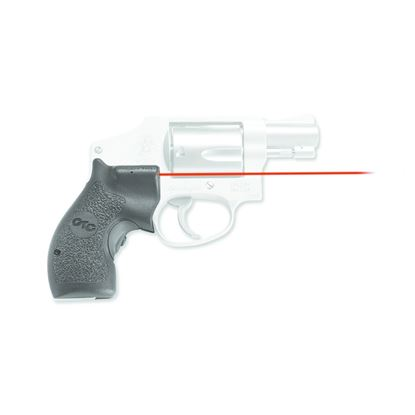 Picture of Crimson Trace LG-105 Lasergrips Laser Sight, Black, Pressure Sensor Activation, Red Laser, Fits S&W J-Frame Revolvers