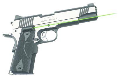 Picture of Crimson Trace LG-401G Lasergrips Laser Sight, Black, Pressure Sensor Activation, Green Laser, Fits 1911 Full-Size Pistols