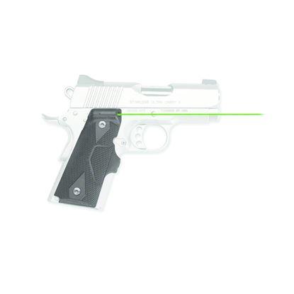 Picture of Crimson Trace LG-404G Lasergrips Laser Sight, Black, Pressure Sensor Activation, Green Laser, Fits 1911 Compact Pistols